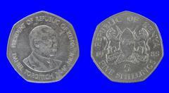 coins Kenya - stock photo