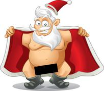 Crazy Santa - Vector Cartoon - stock illustration