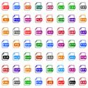 Stock Illustration of File type icons - color