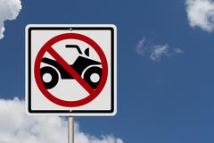 No atv allowed Stock Photos