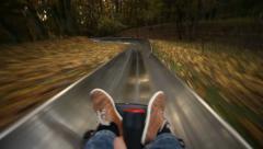 Coasting slide Stock Footage