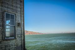 Alcatraz building with window hdr in san francisco, usa Stock Photos