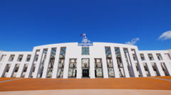 Federal parliament house australia Stock Footage