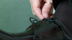 Bridgeroom shoes Stock Footage