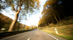 Risky passing car Stock Footage