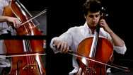 Stock Video Footage of cellist montage