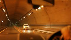 Driving Through Tunnel in Japan Stock Video Stock Footage