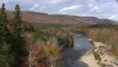 Margaree Valley, Cape Breton Island, Nova Scotia Pan Stock Footage
