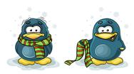 Stock Illustration of frozen penguin