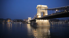 Night In Budapest Stock Footage