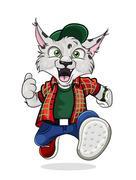 vector lynx - stock illustration