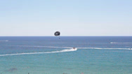Stock Video Footage of Extreme paragliding with riding in open Mediterranean sea, Paphos, Cyprus