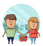 purchase of products - stock illustration
