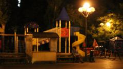 A playground at night Stock Footage