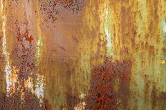 Green rusty metal texture background Stock Photos