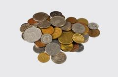 set of coins - stock photo