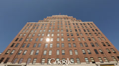 Google Office Exterior in New York City Stock Video Stock Footage