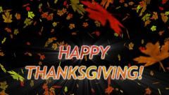 Falling Leaves Thanksgiving Whirlwind - stock footage