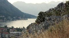 Montenegro - Kotor bay - boka bay Stock Footage