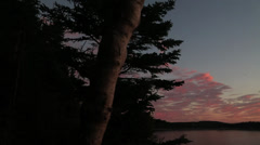 Pan Right of Maine Sunrise Stock Video - stock footage