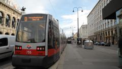 Vienna Streetcar Tram Austria Stock Footage