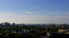 Newport Beach California High View To Pacific Ocean Stock Footage