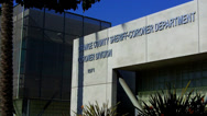 Stock Video Footage of Orange County Sheriff- Coroner Department Building & Sign