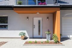 bright space - front door - stock photo