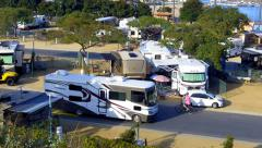 Recreational Vehicle RV Park In Newport Beach California - stock footage