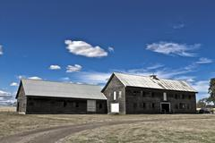 Old barn in Tasmania Stock Photos