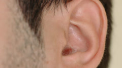 The Human Ear Stock Footage