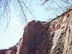 Zion Canyon UT - rock formation closeup - stock photo