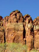Zion Canyon UT - Scenic view rock formations - stock photo