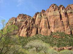 Zion Canyon UT - Scenic mountain view Stock Photos