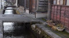 Canal in Hida Furukawa Stock Footage