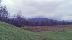 Cades Cove Fall Cloudy 1 HD Stock Footage