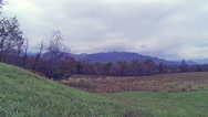 Stock Video Footage of Cades Cove Fall Cloudy 1 HD