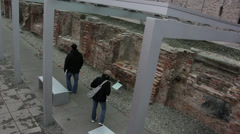 Gestapo and SS headquarters ruins Stock Footage