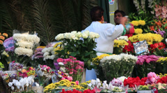 Flower sales outside a Rome cemetery 6 Stock Footage