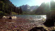 Stock Video Footage of Maroon Bells Aspen Colorado, mountains and lake