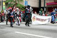 Stock Photo of star wars mandalorian mercenaries walk in the dragon con parade