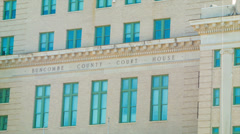 Exterior of the Buncombe County Courthouse in Asheville, NC Stock Footage