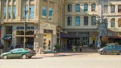People and Cars at Cafe's and Restaurants of Asheville, NC Stock Footage
