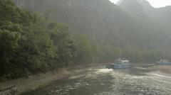 Li Jiang River, Yangshuo, Guilin, Guangxi, China Stock Footage