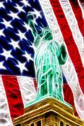 Statue of Liberty - stock illustration