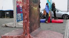 Berlin wall art Stock Footage