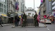 Stock Video Footage of Checkpoint Charlie