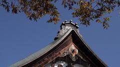 Temple Roof in Hida Furukawa Stock Footage