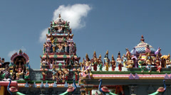 Pantheon of Hindu Gods at the modern Hindu Temple. Stock Footage