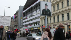 Checkpoint Charlie - stock footage